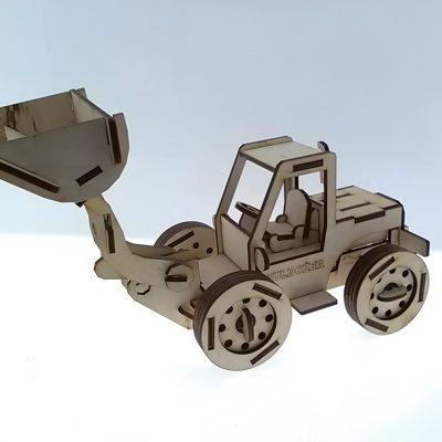4. koparka-buldo+-er -bulldozer - d+é. 20 cm + ruchoma +éy+-ka z wysi¦Ögnikiem - 34 cm _ cena 35_00z+é