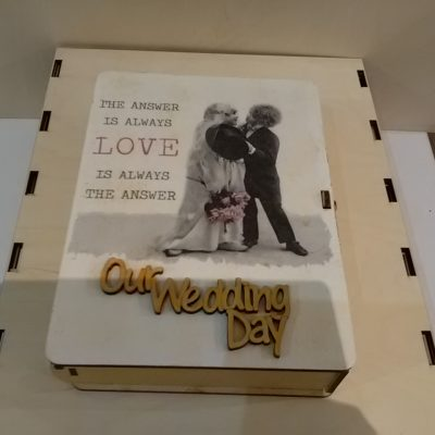 3.2 pude+éko -decorative decoupage wooden box - our wedding day